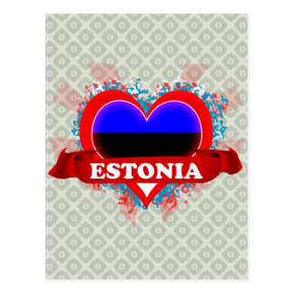 Vintage I Love Estonia Postcard
