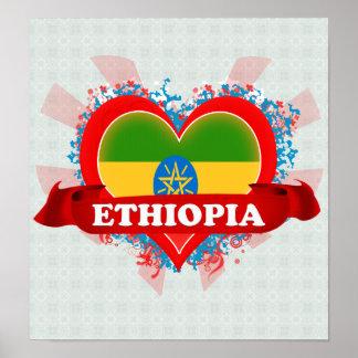 Vintage I Love Ethiopia Poster