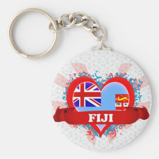 Vintage I Love Fiji Key Ring