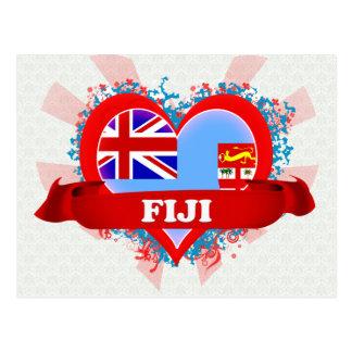 Vintage I Love Fiji Postcard