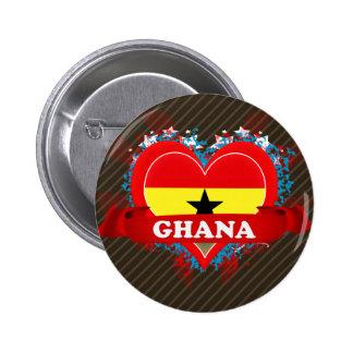 Vintage I Love Ghana Buttons