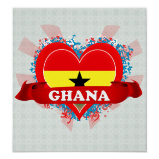 Vintage I Love Ghana Posters