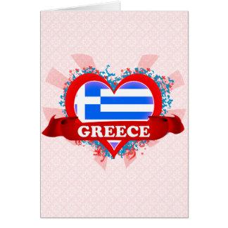 Vintage I Love Greece Cards