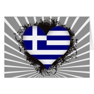 Vintage I Love Greece Greeting Card