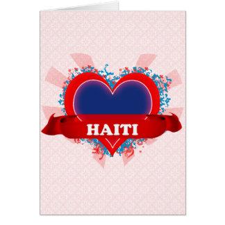 Vintage I Love Haiti Greeting Card