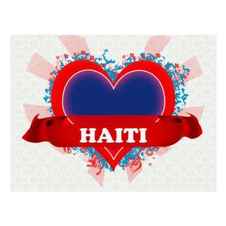 Vintage I Love Haiti Postcard
