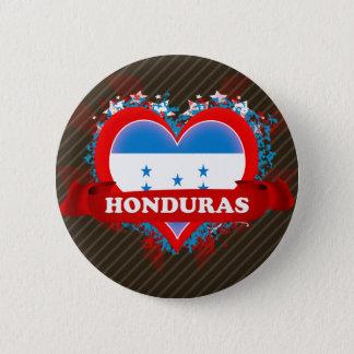 Vintage I Love Honduras 6 Cm Round Badge