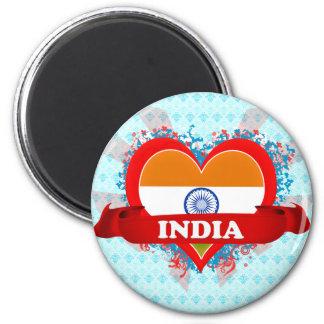 Vintage I Love India Fridge Magnets