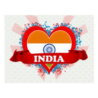 Vintage I Love India Post Cards