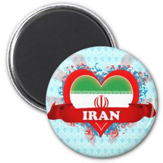 Vintage I Love Iran 6 Cm Round Magnet