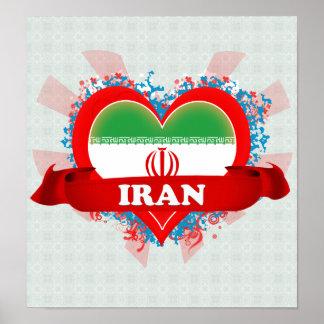 Vintage I Love Iran Poster