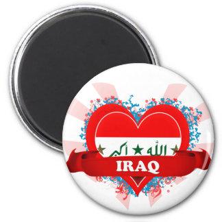 Vintage I Love Iraq Magnet