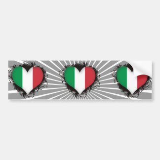 Vintage I Love Italy Bumper Stickers