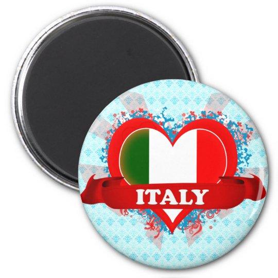 Vintage I Love Italy Magnet