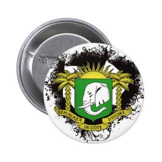 Vintage I Love Ivory Coast 6 Cm Round Badge