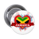 Vintage I Love Jamaica 6 Cm Round Badge
