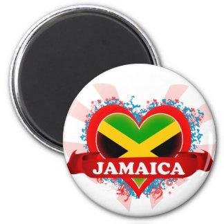 Vintage I Love Jamaica 6 Cm Round Magnet