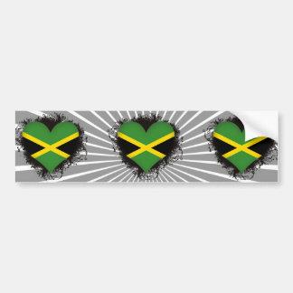 Vintage I Love Jamaica Bumper Sticker