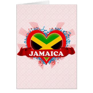 Vintage I Love Jamaica Card