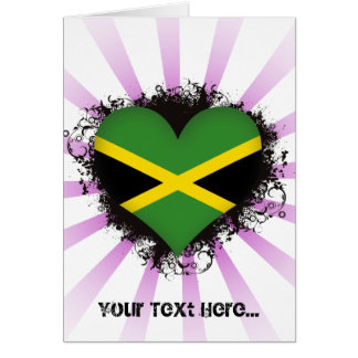 Vintage I Love Jamaica Card
