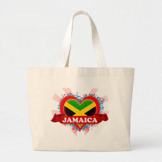 Vintage I Love Jamaica Large Tote Bag