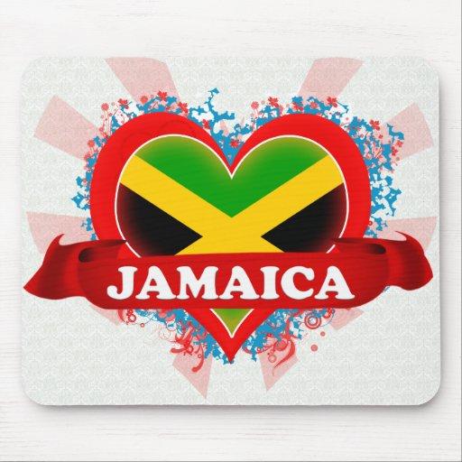 Vintage I Love Jamaica Mouse Pad