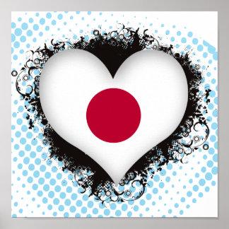 Vintage I Love Japan Poster