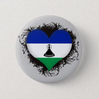 Vintage I Love Lesotho 6 Cm Round Badge