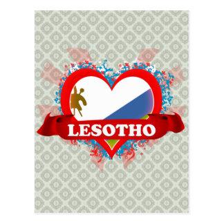 Vintage I Love Lesotho Postcard
