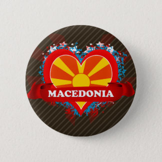 Vintage I Love Macedonia 6 Cm Round Badge