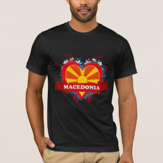 Vintage I Love Macedonia T-Shirt