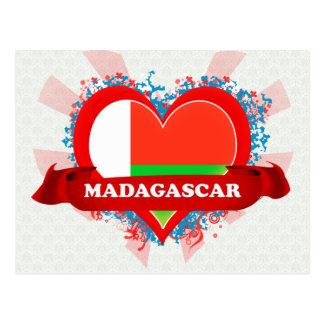 Vintage I Love Madagascar Postcard
