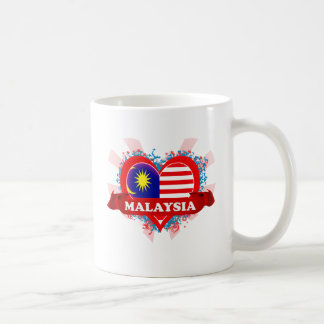 Vintage I Love Malaysia Basic White Mug