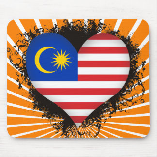 Vintage I Love Malaysia Mouse Pads