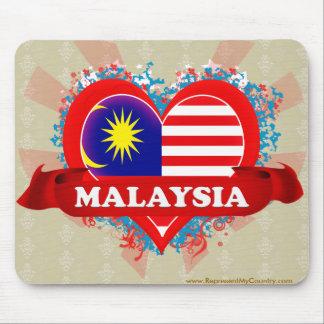 Vintage I Love Malaysia Mouse Pad