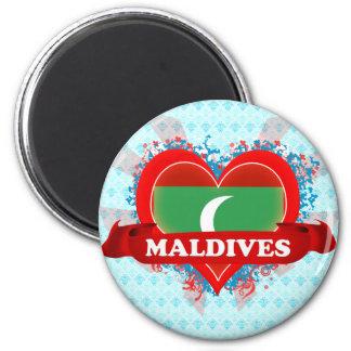 Vintage I Love Maldives Magnet