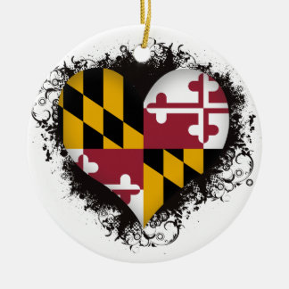 Vintage I Love Maryland Christmas Ornament