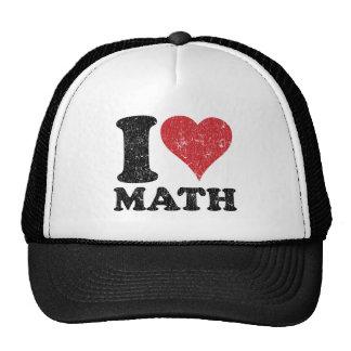 Vintage I Love Math Trucker Hat