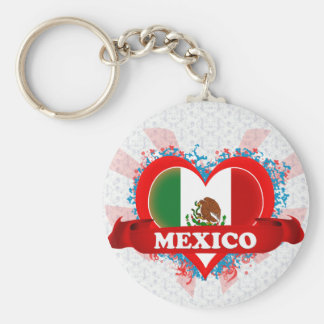 Vintage I Love Mexico Key Ring