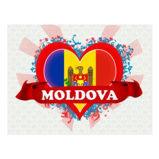 Vintage I Love Moldova Postcard