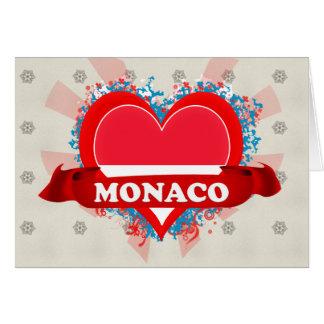 Vintage I Love Monaco Greeting Card