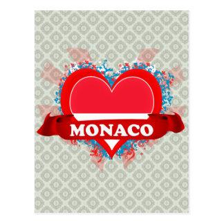 Vintage I Love Monaco Postcard