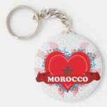 Vintage I Love Morocco Keychains