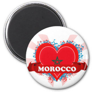 Vintage I Love Morocco Magnet