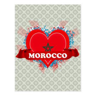 Vintage I Love Morocco Postcard