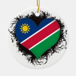 Vintage I Love Nambia Christmas Tree Ornament
