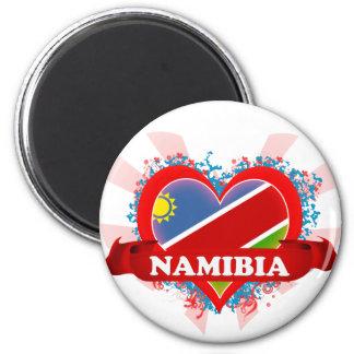 Vintage I Love Namibia 6 Cm Round Magnet