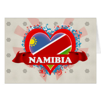 Vintage I Love Namibia Greeting Card