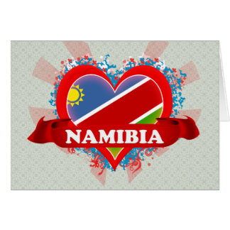 Vintage I Love Namibia Greeting Card