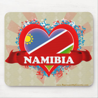 Vintage I Love Namibia Mouse Pad